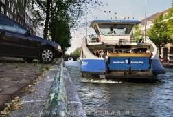 Grachten veer (Canal ferry) in Amsterdam