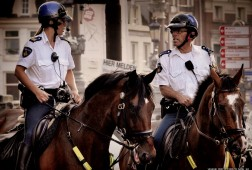 Police officers on duty in Amsterdam