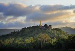 Buddhist mountain Temple scape